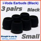 Small Ear Buds Tips Pads for Sennheiser CX 270 271 280 281 300 300-II 400 400-II 500 475 485 @Black