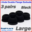 Large Double Flange Ear Buds Tips for Sennheiser CX 300 300-II 400-II 500 350 380 550 / IE 6 7 8 @B