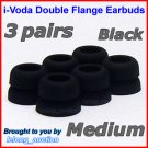 Medium Double Flange Ear Buds Tips for Sennheiser CX 300 300-II 400-II 500 350 380 550 / IE 6 7 8 @B