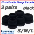 Double Flange Ear Buds Tips for Sennheiser CX 300 300-II 400 400-II 500 350 380 550 / IE 6 7 8 @B