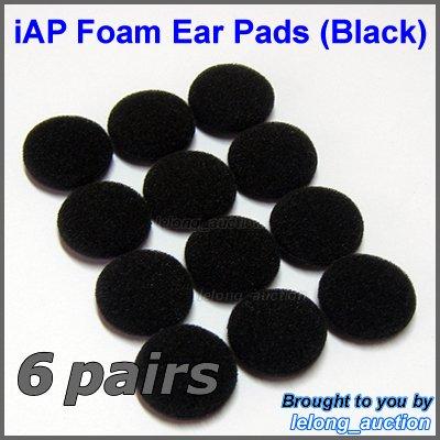Replacement Foam Ear Pads Cushions for Sennheiser Sony iPod MP3 Earbuds Earphones Headphones @Black