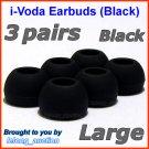 Large Ear Buds Tips Pads for Creative EP-3NC HS-730i EP-650 EP-660 EP-830 EP-630 EP-630i EP-635 @B