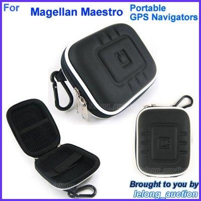 Black Carry Case Cover for Magellan Maestro 3200 3210 3220 3225 3250 Portable GPS Navigators