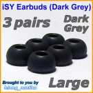 Large Ear Buds Caps Tips for Philips SHE9500 SHE9550 SHE9700 SHE9800 SHN2500 In-Ear Headphones @DG
