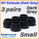 Small Ear Buds Caps Tips for Philips SHE9500 SHE9550 SHE9700 SHE9800 SHN2500 In-Ear Headphones @DG