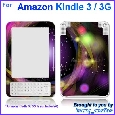 Vinyl Skin Sticker Art Decal Disco Design for Amazon Kindle 3 Wi-Fi 3G eBook Reader
