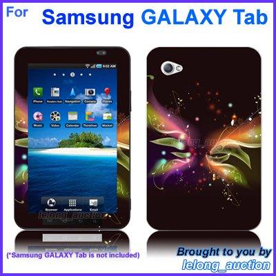 "Vinyl Skin Sticker Art Decal Butterfly Glow Design for Samsung GALAXY Tab 7"" 7-inch Tablet"