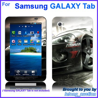 "Vinyl Skin Sticker Art Decal Racing Car Design for Samsung GALAXY Tab 7"" 7-inch Tablet"