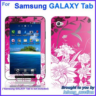 "Vinyl Skin Sticker Art Decal Pink Flower Design for Samsung GALAXY Tab 7"" 7-inch Tablet"