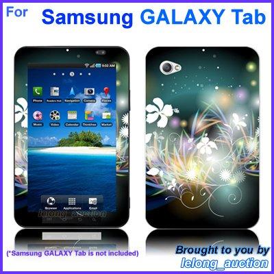 "Vinyl Skin Sticker Art Decal Flower Glow Design for Samsung GALAXY Tab 7"" 7-inch Tablet"
