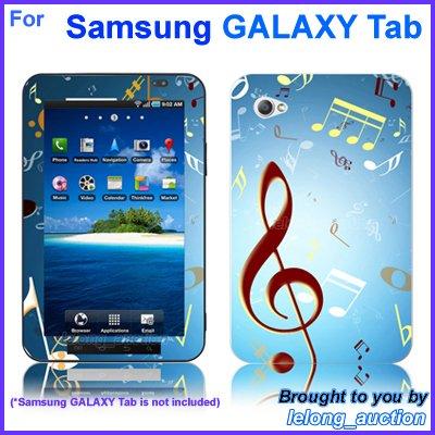 "Vinyl Skin Sticker Art Decal Music Notes Design for Samsung GALAXY Tab 7"" 7-inch Tablet"