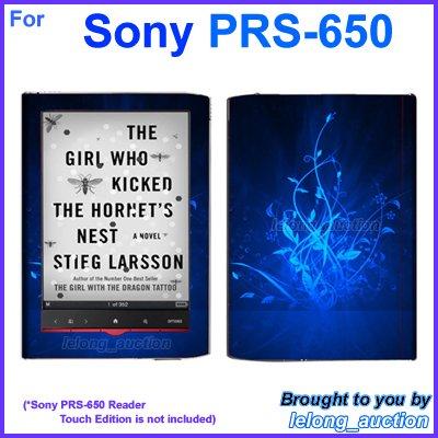 Vinyl Skin Sticker Art Decal Blue Glow Design for Sony PRS-650 Reader Touch Edition eReader