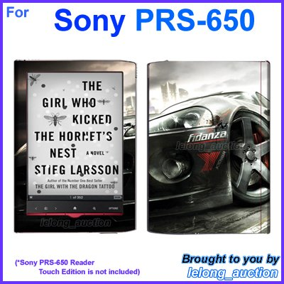 Vinyl Skin Sticker Art Decal Racing Car Design for Sony PRS-650 Reader Touch Edition eReader