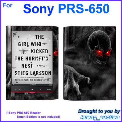 Vinyl Skin Sticker Art Decal Red Eye Devil Design for Sony PRS-650 Reader Touch Edition eReader