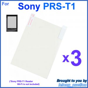 3x Clear Screen Protector Film for Sony PRS-T1 Reader Wi-Fi eBook eReader 6-inch