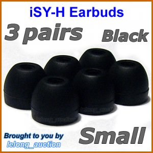 Small Replacement Ear Buds Tips Cushions for Sony DR EX12iP EX61iP EX300iP XB22iP BT100 BT160 @Black