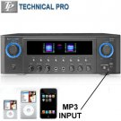Technical Pro 800 Watt Home Stereo Home Theater Receiver With FM Tuner SD Card Reader USB & MP3
