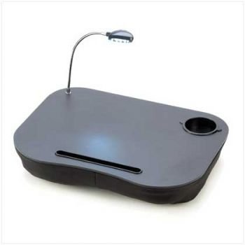 Portable Desktop Surface With LED Lamp Light & Drink Holder