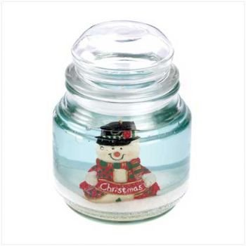 The Merry Snowman Scenic Christmas Gel Jar Candle