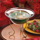 Christmas Holiday Pine Scented Triple Wick Pedestal Candle