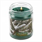 Winter Pine Scented Christmas Holiday Jar Candle