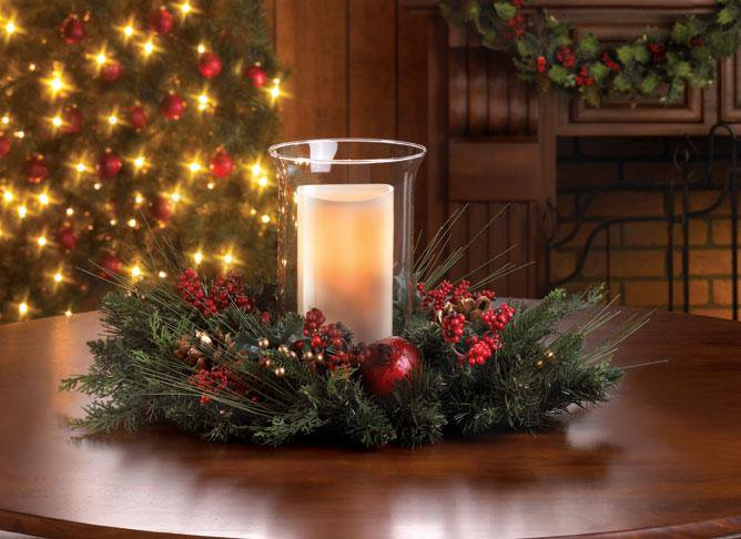 Decorative Flameless Hurricane Candle Lantern Christmas