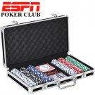 ESPN 300 Piece Professional Poker Chip Gaming Set With Hard Storage Case