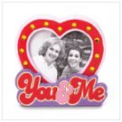 #36610 You & Me Wood Heart Photo Frame