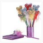 #33126 Sequined Heart Pens