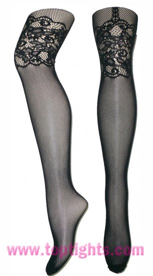 Faux Garter Belt Stretchy Lace Tights Fishnet Stockings Hoisery Hosiery