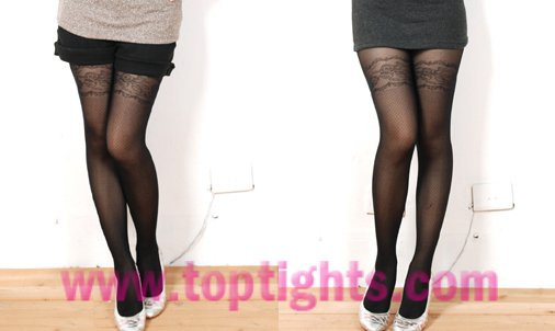Mock Stockings Tights Sheer Patterned Hosiery Sexy Stockings