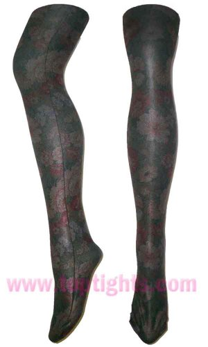 Floral Garden Flower Printed Tights Color Stockings Fashion Pantyhose Lingerie
