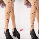 Tattoo Star Print Pattern Tights Stockings Vintage Women Hosiery