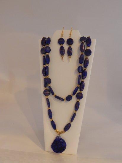 Stunning Blue Cobalt Set with Gold Shimmer
