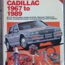 Chilton Repair Manual Cadillac 1967 to 1989