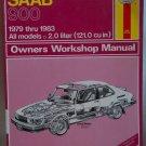 Haynes Saab 900 1979-1983 Owners Workshop Manual