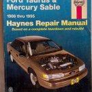 Haynes Ford Taurus & Mercury Sable 1986-95 Repair Manual