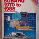 Chilton's  Repair Manual Subaru 1970 to 1988