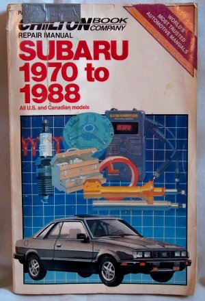 Chilton's  Repair Manual Subaru 1970 to 1988