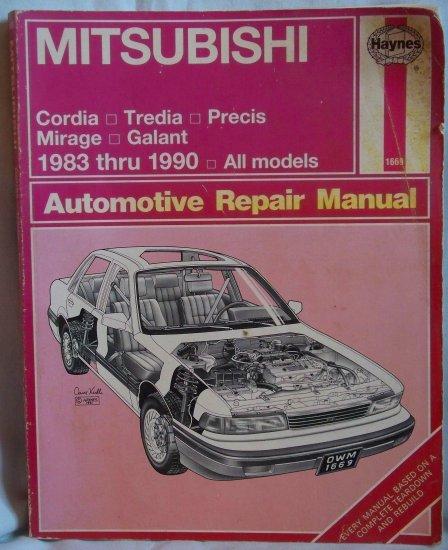 Haynes Mitsubishi Automotive Repair Manual 1983 thru 1990