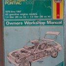 Haynes Chevrolet Chevette & Pontiac T1000 1976 thru 1987 Owners Workshop Manual