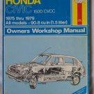 Haynes Honda Civic 1500 CVCC 1975 thru 1979 Owner's Workshop Manual
