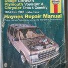 Haynes Dodge Caravan Plymouth Voyager & Chrysler Town & Country 1984-1995 Repair Manual