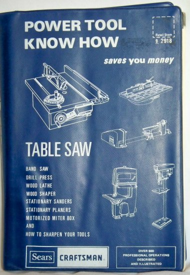 Power Tool Know How, Table Saw, Copyright 1983