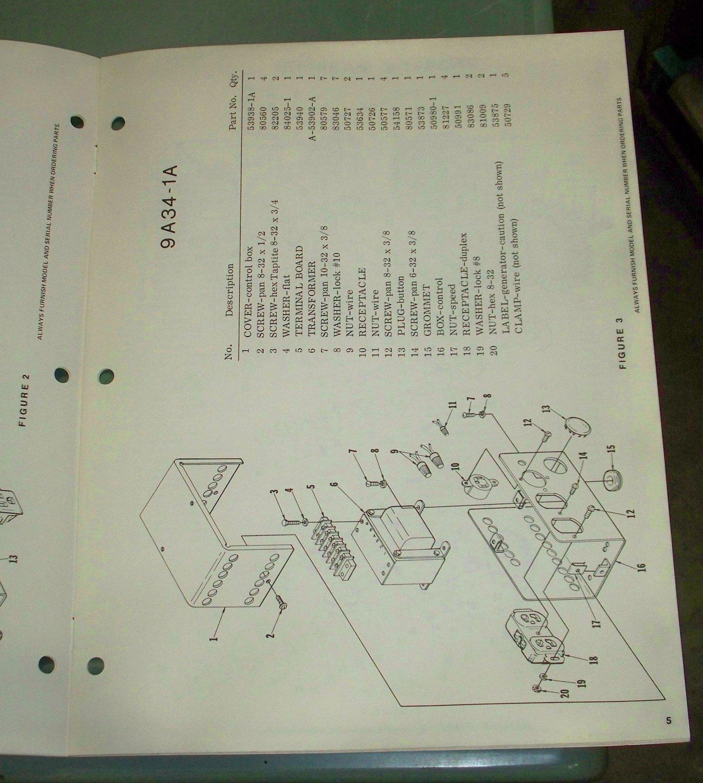 Homelite Generators Parts List Part No 24693 9a34 1 1a Models Wiring Diagram Grommet Key