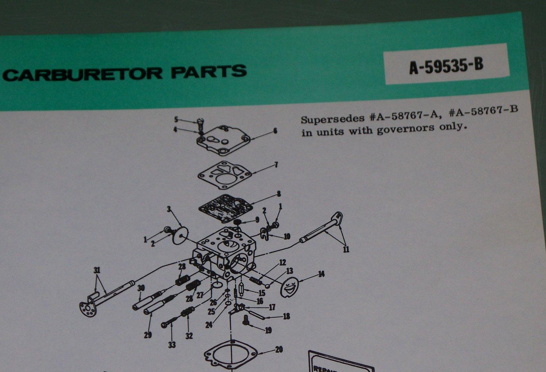 Homelite Carburetor Chain Saw Assembly No  A-59535-B Part No