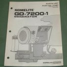 Homelite Generators, Parts List, Part No. 17381, Models GD-7200-1 Illustrated