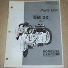 Homelite Multi-Purpose Saw Model DM20, Part No. 17331, Parts List, used