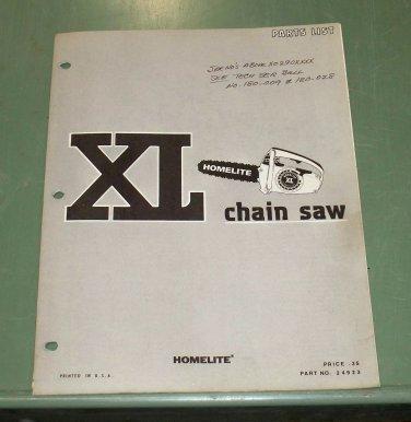 Homelite Xl Parts List Manual Part No 24923