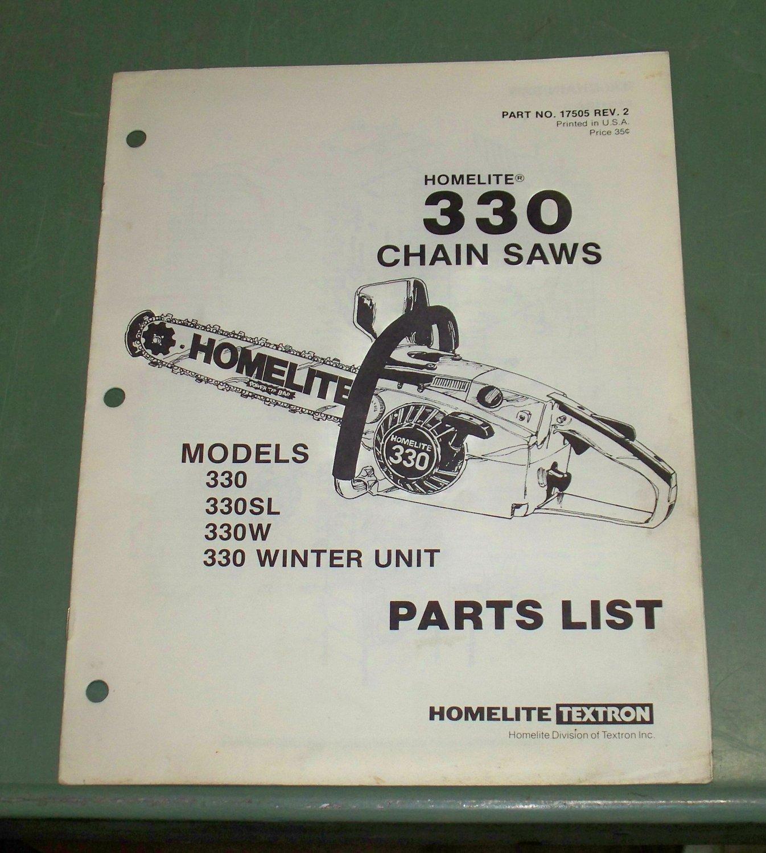 330 homelite chainsaw Service Manual